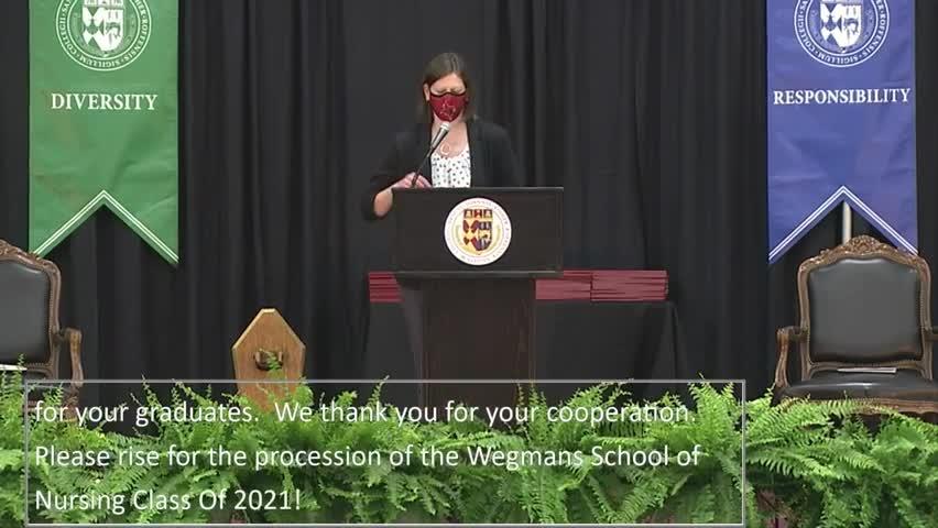 2021 School of Nursing Undergraduate Commencement ...