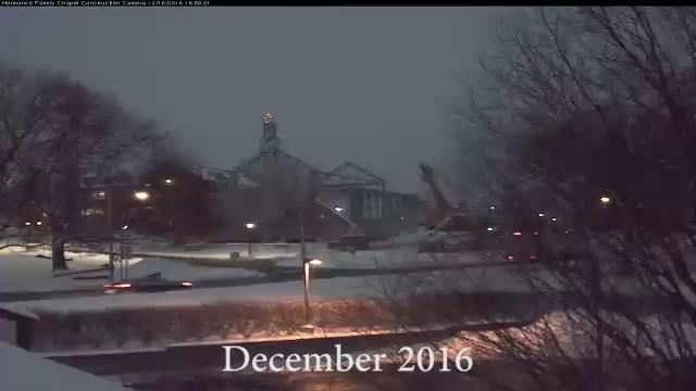 Chapel Time Lapse: Dec 2016 to Jul 2017
